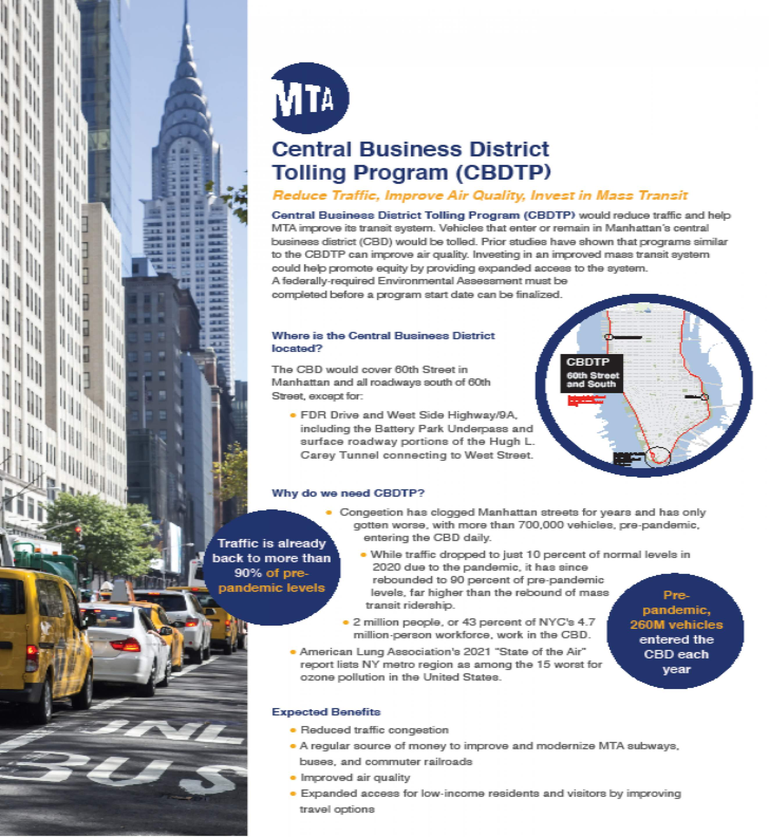 Banner Photo: MTA Central Business District Tolling Program