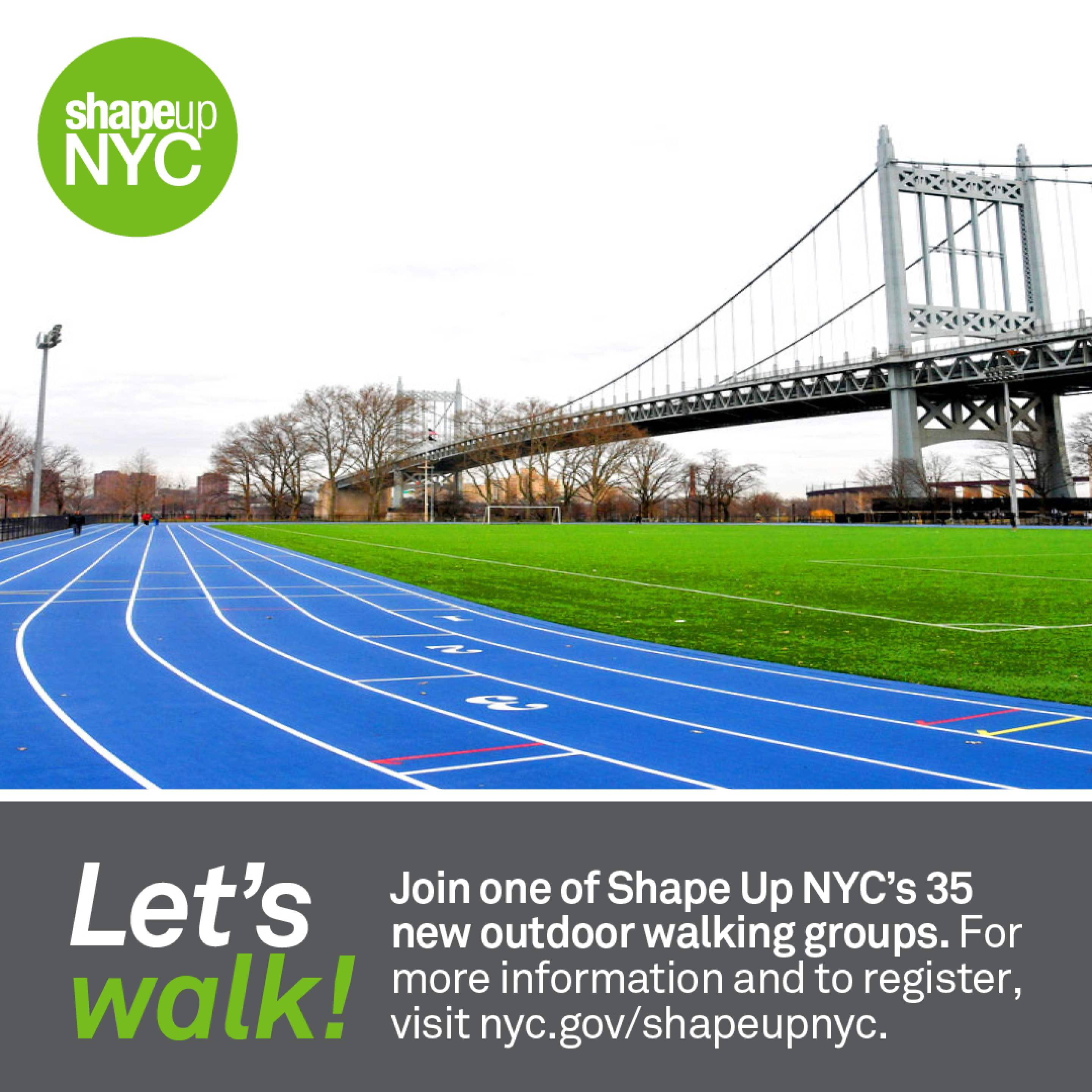 Banner Photo: NYC Parks Shape Up Walking Group Promotion